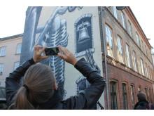 Samla social digital fotografi