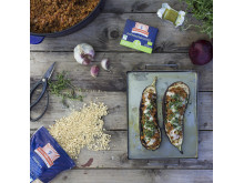 Vegetariskt grillrecept - aubergine