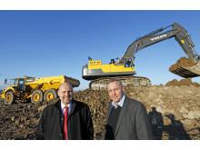 Byggstart för Swecons nya huvudkontor - Tomas Kuta och Christer Söderberg
