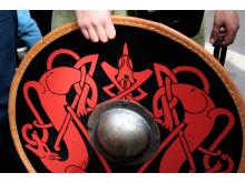 Vikingeskjold ved vikingemarkedet