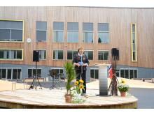 Ordfører Marianne Borgen åpnet skolen