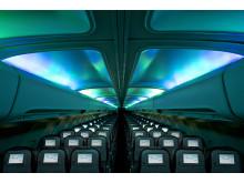 LED-valaistus matkustamossa