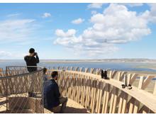 White arkitekter ritar utsiktstorn i trä i Varberg