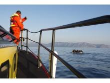 Gula Båtarna siktar flotte. Uppdrag den 30 mars 2016