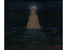 Havfruen/The Mermaid , olje på lerret, 1897, Harald Sohlberg. Privat eie.