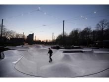 Söderlyckans skatepark i Lund tävlar om Svenska Ljuspriset.