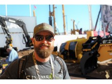 Influensere Sean Coughlan aka Shamrock Earthworks på Conexpo
