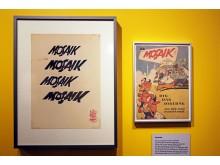 Die verschiedenen Schriftzüge und die erste Ausgabe der Mosaik Hefte von 1955