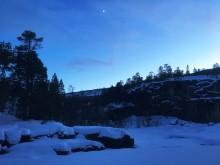 Kveldsstemning ved Tronga. Foto; Kjetil Letto.