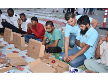 QNET Dubai - Iftar session with poor families and construction workers