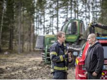 Riskhantering avseende brand vid skogsarbete, liggande