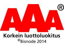 Suomen Moneta - Korkein luottoluokitus 2014