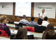 Apertura Campamento Innovación / Incubation Challenge con Bertrand Sava de Visa Europe
