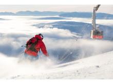 Skidåkare vid kabinbanan - Skiing in Åre