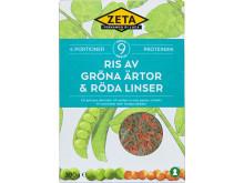 Zeta Ris av gröna ärtor & röda linser produktbild