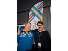 Espen Bjervig, administrations- och marknadschef för längd på Norska Skidförbundet och Johan Sares, längdchef Svenska Skidförbundet.