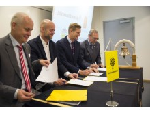 High res image - Kongsberg Digital - Kalmar Ice Academy signing