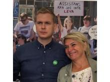 """Gustav Fridolin och Eva Hamilton vid """"Funktionshinderrörelsen pressar partierna"""" Almedalen 2018"""