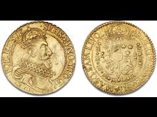 Sigismund III, 1587-1632, 5 dukat 1612. Hammerslag: 350.000 kr.