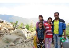 Familjen förlorade hus i jordbävningen