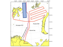 Route scientific cruise Russian waters
