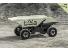Volvo HX1 självgående batteridriven lastbärare - under transport
