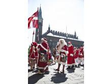 Julemænd på Rådhuspladsen