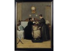 Grosshandlare Hammarstrands slaganfall och död - målning