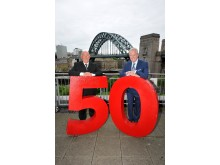 Lloyd Sheriff (left) celebrates 50 years long service_pictured with Kevin Carr