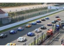 Startfältet Ginetta GT5 Challenge Spa-Francorchamps