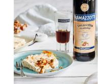 Dessert Semifreddo mit karamellisierten Haselnüssen und Ramazzotti Amaretto