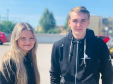 Saga Axelsson och Oliver Agerborn