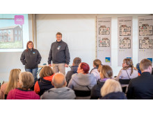 Presentation vid byggplatsvisning - BoKlok Hasseln, Falun