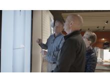 Interaktiv skärm i butiken i Nyköping