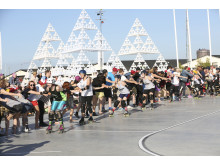 Aktiviteter i Jubileumsparken Frihamnen 2014 - Rollerderby