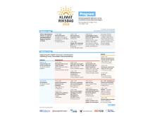Program Klimatriksdagen fre-lö