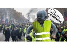 Sinnataggen på Champs-Élysées, Paris