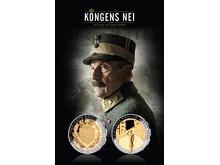 Kongens nei – kommer på kino 23. september. Samtidig er den offisielle minnemedaljen utgitt fra Det Norske Myntverket