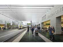 Vybild station Centralen Västlänken