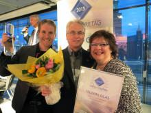 Segerjublande mottog Anders, Leif och Birgitta Restadh priset Årets Företag i Glasbranschen