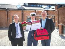 Stolt Bygmastipendiat på Hahrska gymnasiet i Västerås