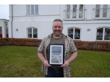 Jørgen Korsgaard, MAN Aalborg, blev kåret som årets MAN løve for sin særlige indsats for at sætte MAN i hele Nordjylland på landkortet i 2015
