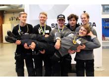 Finalisterna i SM för unga plåtslagare 2019
