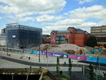 The town centre demolition site