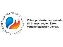 Logotyp Säker Vatteninstallation 2016:1
