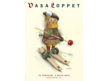Lasse Åbergs senaste konstverk – 2012 års Vasaloppsaffisch