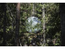Omvägar,  Eva Schlegel, Circular Mirror, 2018
