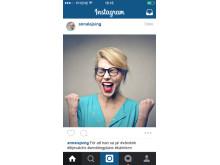 Instagrampost för #vårskrik - exempelbild