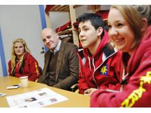Statminister Fredrik Reinfeldt besökte Polarna Värmdö