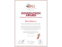 Innovation Award Peter Gleim sr.